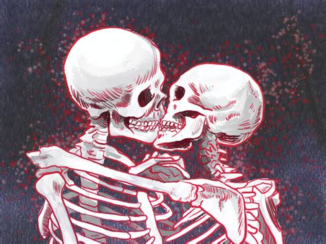 skeleton kiss by tim paul dribbble