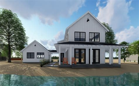 farmhouse plan ideas plan 62650dj modern farmhouse plan with 2 beds and semi