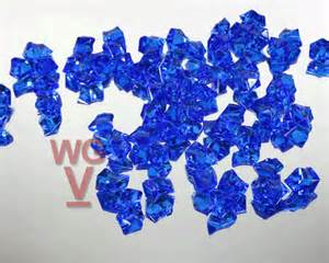acrylic rock vase fillers 1 lbs royal blue set of 1