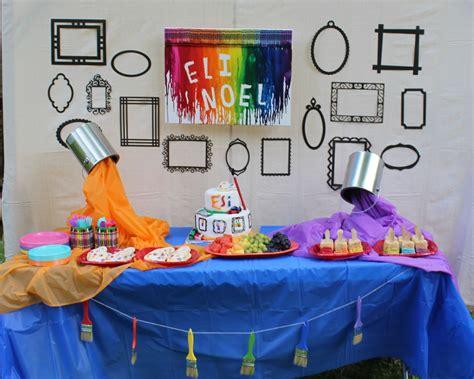 art themed events art party food table momma d and da boyz