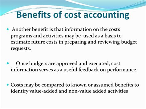 Cost Benefit Of An Mba by Cost Accounting Managerial Accounting Financial Accounting
