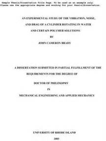 Examples Of Law Dissertation Titles Psychology Dissertation Title Examples