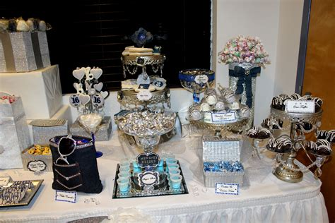denim amp diamonds sweet 16 candy table denim amp diamonds
