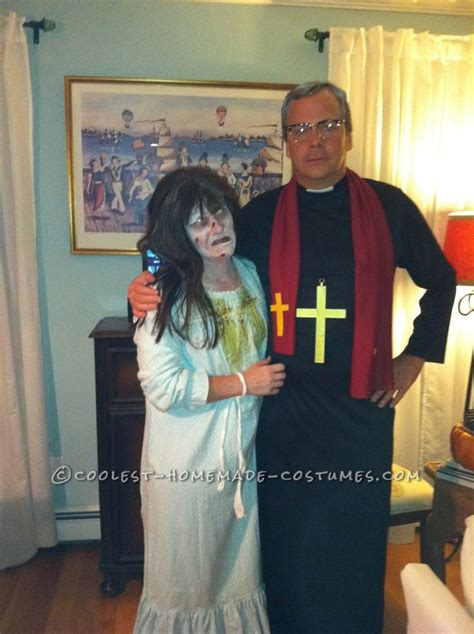 homemade exorcist costume halloween web scary couple costume from exorcist regan and priest