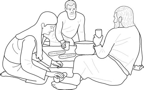 coloring page of mary anointing jesus feet perfume mary magdalene and jesus on pinterest coloring