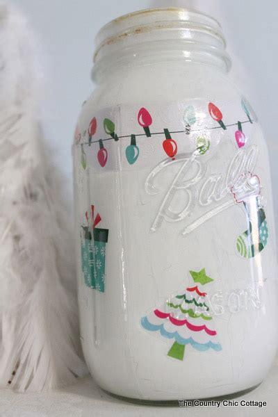 christmas crafts wirh mason jars jar craft mod podge rocks