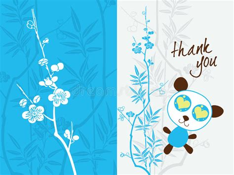 thank you card miami template thank you card template stock vector illustration of