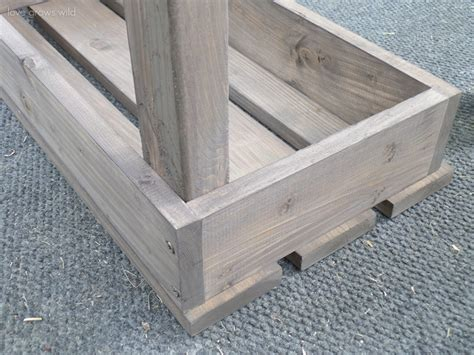 how to make outdoor bench easy diy outdoor bench love grows wild