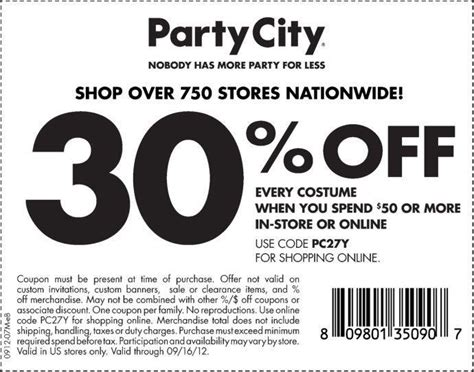printable food city coupons 30 off printable coupon at party city wayne nj