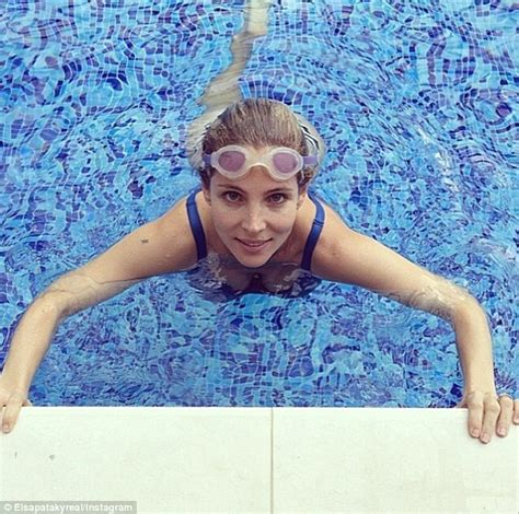 elsa pataky the 36 year old was born in madrid and learned elsa pataky dives back into her fitness regime after
