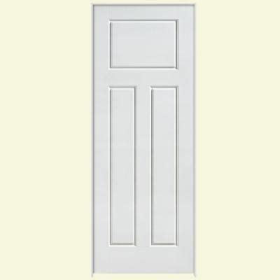 3 panel interior doors home depot masonite solidoor glenview smooth 3 panel craftsman solid primed composite single prehung