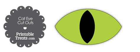 printable cat eyes printable green cat eye cut outs printable treats com