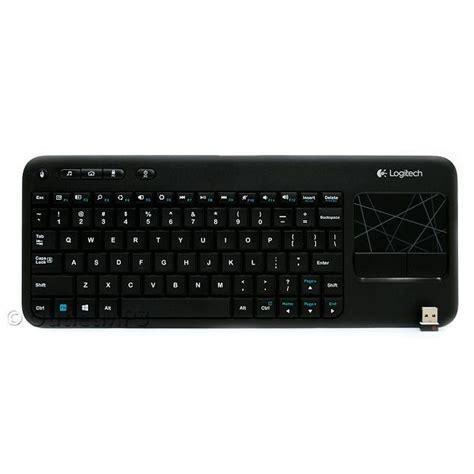 Keyboard Logitech Keyboard Touchpad K400r n logitech k400 black wireless touch keyboard k400r multi touch touchpad ebay