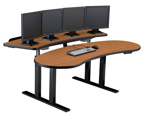 standing desk small space control room furniture computer desk dispatch console