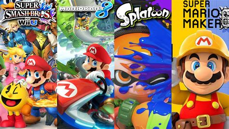 super mario maker splatoon super smash bros wii u