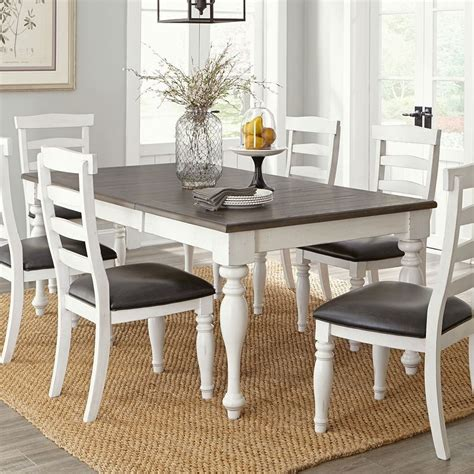 bourbon county french country rectangular extendable