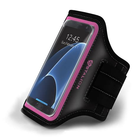 2 In 1 Premium Sport Armband Galaxy S7 Edge Pink stalion 174 sports running exercise armband for samsung galaxy s7 edge