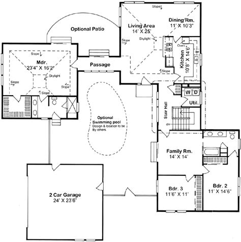 home plans with a courtyard and swimming pool in the center courtyard home plans at coolhouseplans com