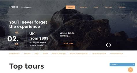 25 Free And Premium Html Travel Website Templates Webprecis Tour Operator Website Template
