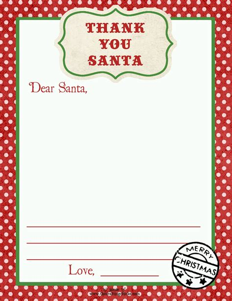 Thank You Letter Template To Santa It S A Thoman Thank You Santa