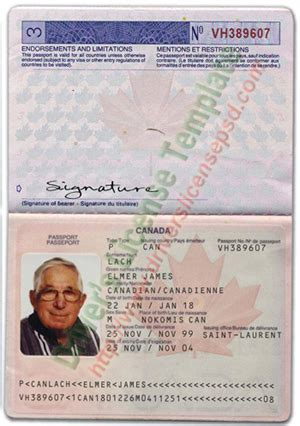 canadian passport template drivers license drivers license drivers license