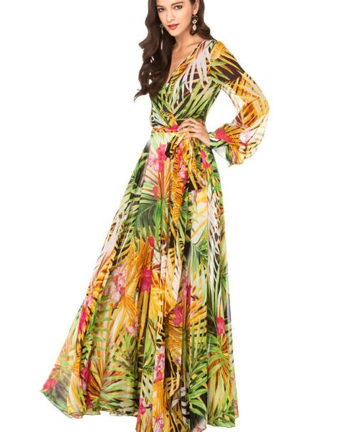 Top Five Print Maxi Dresses by 2015 Summer Style Floral Print Maxi Dresses