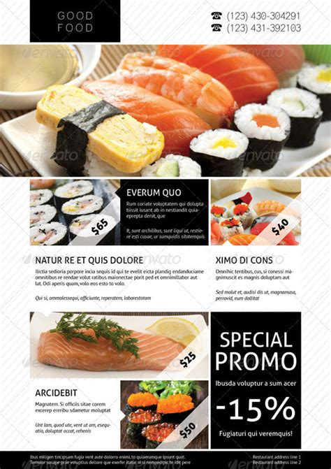 flyers design templates for restaurant 15 best restaurant design flyer templates
