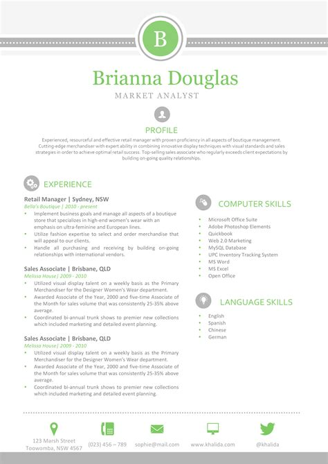 creative resume templates for mac pages the resume green and clean template
