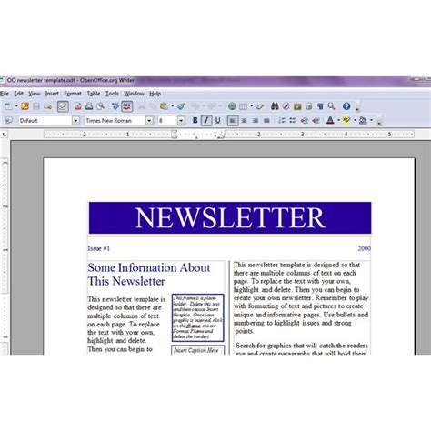 template openoffice newspaper template for kids throughout open
