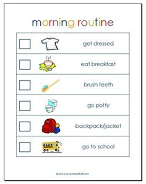 printable daily schedule for adhd child 1000 images about routines on pinterest chore charts