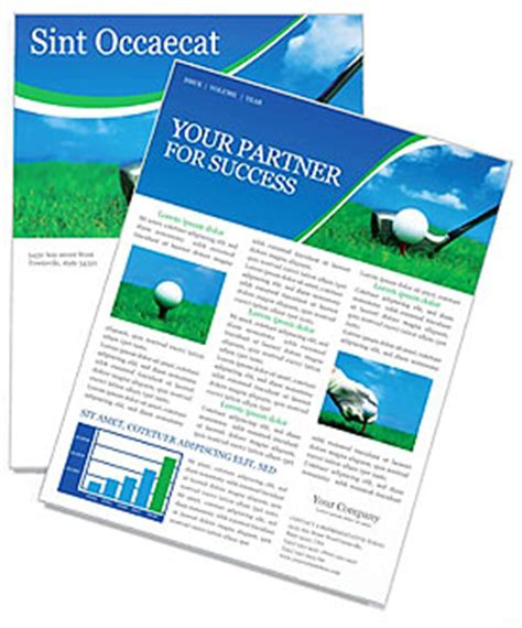 Golf Newsletter Template Design Id 0000000440 Smiletemplates Com Golf Newsletter Templates