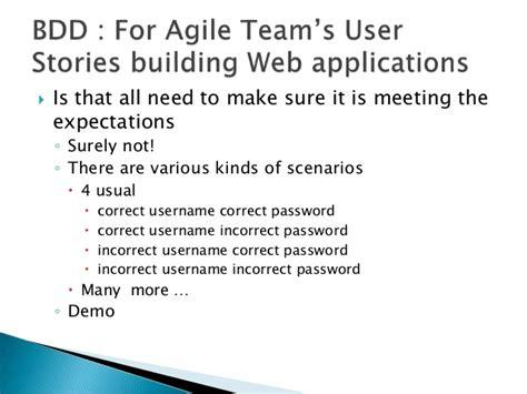 Bdd Selenium For Agile Teams User Stories