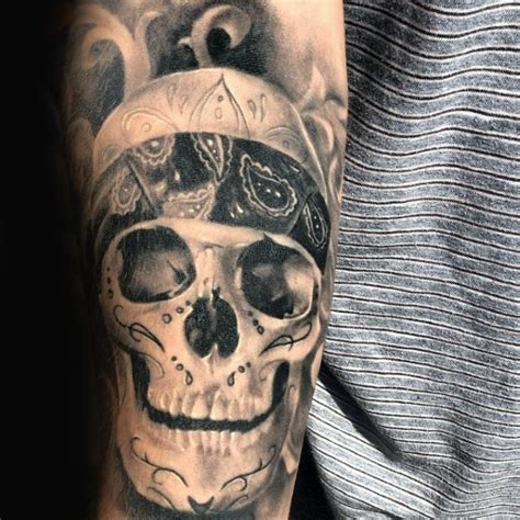 top 10 bandana design tattoos chopper biker skull pictures to pin on tattooskid