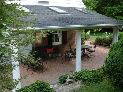 backyard covered patio archadeck of the piedmont triad transforms a patio in lake