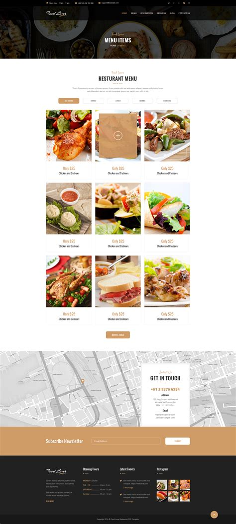 food lover restaurant wordpress theme by egprojets