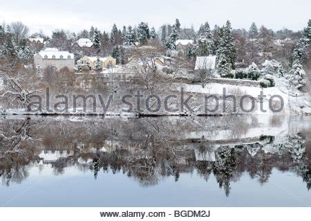 the scottish city of perth in winter stock photo royalty