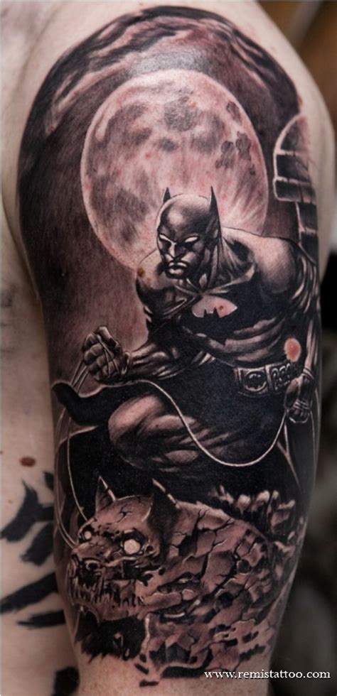 batman tattoo deviantart batman gargoyle black and grey by remistattoo on deviantart