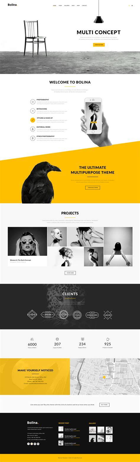 Bolina Multi Purpose Psd Template By Themesun Themeforest Themeforest Website Templates Free