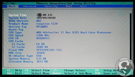format file bios dell inspiron m101z laptop review page 6 of 15