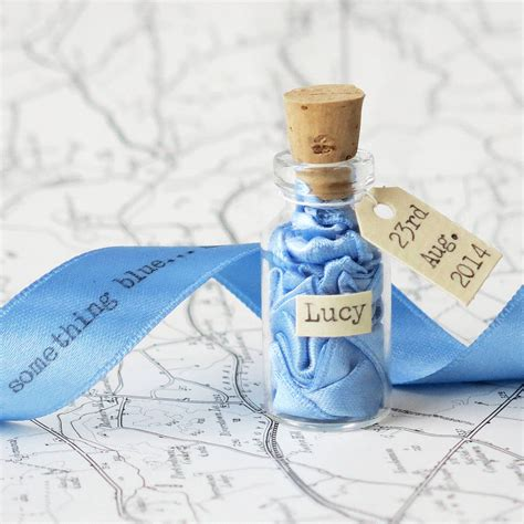 something blue message in a bottle by white