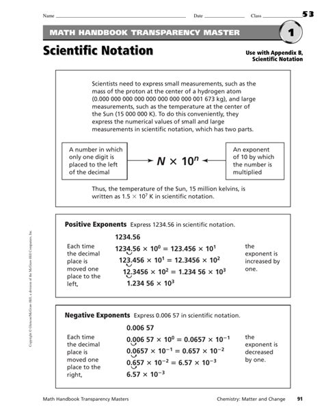 Scientific Notation Practice Worksheet by Scientific Notation Worksheet Chemistry Worksheets