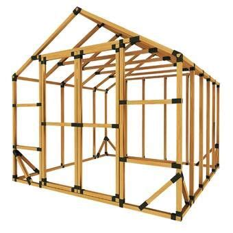 shed brackets enclosure kit storage shed kits diy