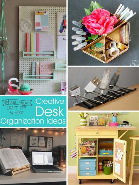 creative desk organization tips and ideas