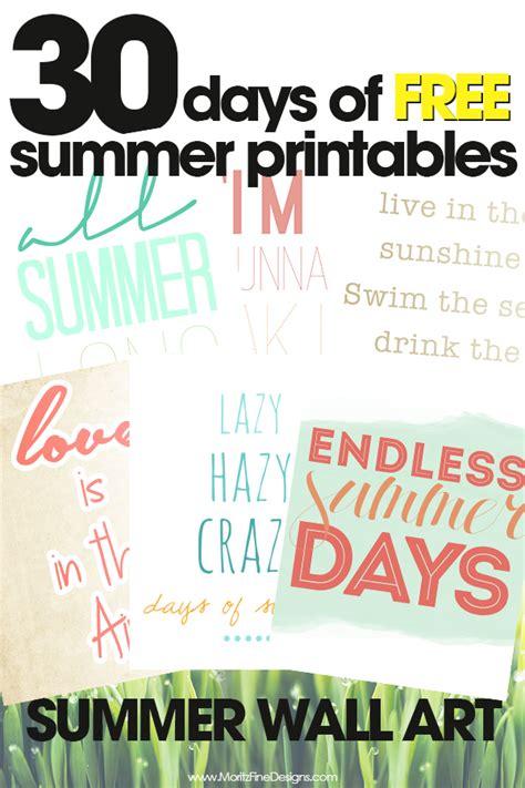 free printable summer wall art summer wall art free summer printables day 18 moritz