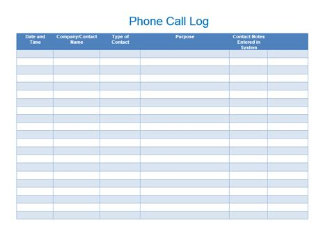 call register template sales call list templates 5 free templates format