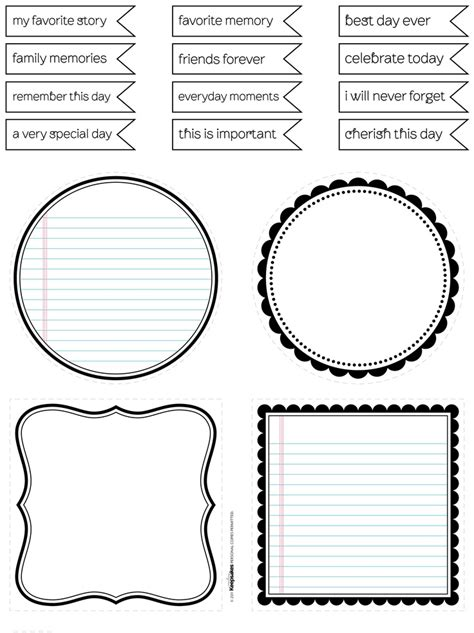 scrapbook journaling templates 17 best images about project on free