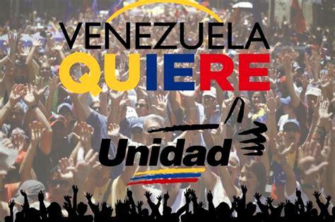 imagenes venezuela quiere cambio 161 lleg 211 la hora del cambio mud present 243 ca 241 a electoral