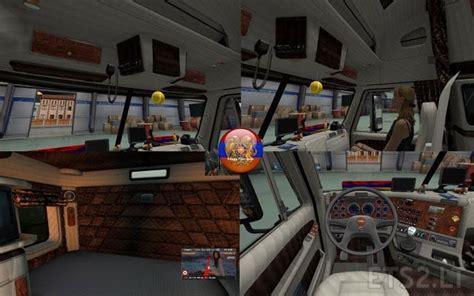 updated interior for freightliner argosy ets 2 mods