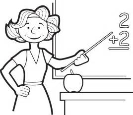 free coloring page of a teachers collections