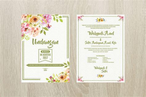 template undangan vintage undangan pink vintage flower corel draw indonesia corel draw